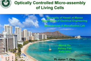 RCMI Spotlight Presents – University of Hawaii at Manoa – Optically controlled micro-assembly of living cells